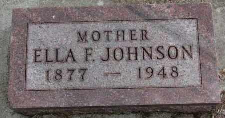 JOHNSON, ELLA F. - Yankton County, South Dakota | ELLA F. JOHNSON - South Dakota Gravestone Photos