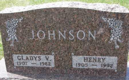JOHNSON, GLADYS V. - Yankton County, South Dakota | GLADYS V. JOHNSON - South Dakota Gravestone Photos