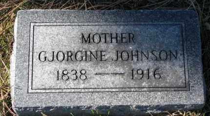 JOHNSON, GJORGINE - Yankton County, South Dakota | GJORGINE JOHNSON - South Dakota Gravestone Photos