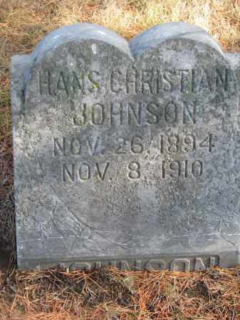 JOHNSON, HANS CHRISTIAN - Yankton County, South Dakota | HANS CHRISTIAN JOHNSON - South Dakota Gravestone Photos