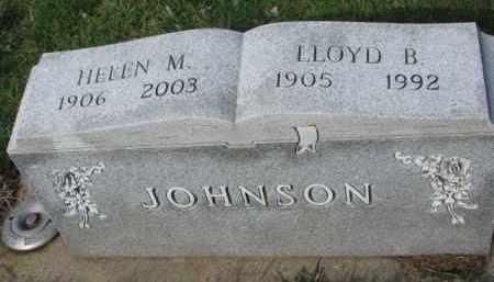 JOHNSON, LLOYD B. - Yankton County, South Dakota | LLOYD B. JOHNSON - South Dakota Gravestone Photos