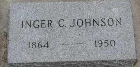 JOHNSON, INGER C. - Yankton County, South Dakota | INGER C. JOHNSON - South Dakota Gravestone Photos