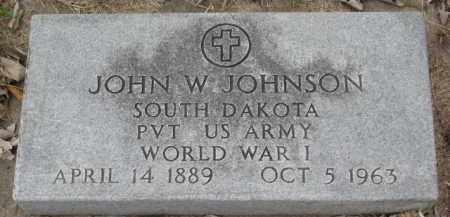JOHNSON, JOHN W. (WW I) - Yankton County, South Dakota | JOHN W. (WW I) JOHNSON - South Dakota Gravestone Photos