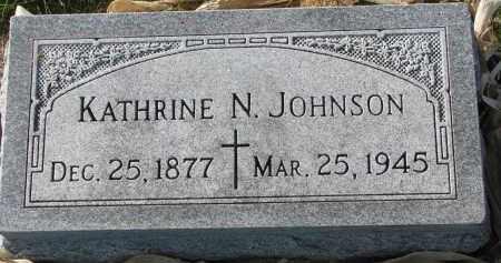 JOHNSON, KATHRINE N. - Yankton County, South Dakota | KATHRINE N. JOHNSON - South Dakota Gravestone Photos