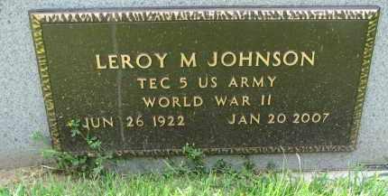 JOHNSON, LEROY M. (WW II) - Yankton County, South Dakota | LEROY M. (WW II) JOHNSON - South Dakota Gravestone Photos