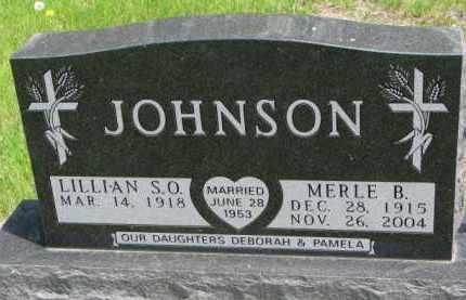 JOHNSON, LILLIAN S.O. - Yankton County, South Dakota | LILLIAN S.O. JOHNSON - South Dakota Gravestone Photos