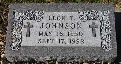 JOHNSON, LEON T. - Yankton County, South Dakota | LEON T. JOHNSON - South Dakota Gravestone Photos