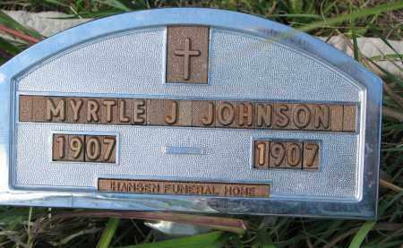 JOHNSON, MYRTLE J. - Yankton County, South Dakota | MYRTLE J. JOHNSON - South Dakota Gravestone Photos