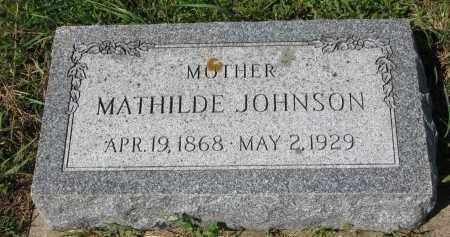 JOHNSON, MATHILDE - Yankton County, South Dakota | MATHILDE JOHNSON - South Dakota Gravestone Photos