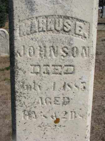 JOHNSON, MARKUS E. (CLOSEUP) - Yankton County, South Dakota | MARKUS E. (CLOSEUP) JOHNSON - South Dakota Gravestone Photos