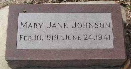 JOHNSON, MARY JANE - Yankton County, South Dakota | MARY JANE JOHNSON - South Dakota Gravestone Photos