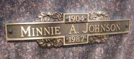 JOHNSON, MINNIE A. - Yankton County, South Dakota | MINNIE A. JOHNSON - South Dakota Gravestone Photos