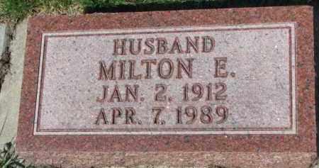 JOHNSON, MILTON E. - Yankton County, South Dakota   MILTON E. JOHNSON - South Dakota Gravestone Photos