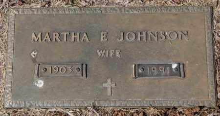 JOHNSON, MARTHA E. - Yankton County, South Dakota | MARTHA E. JOHNSON - South Dakota Gravestone Photos