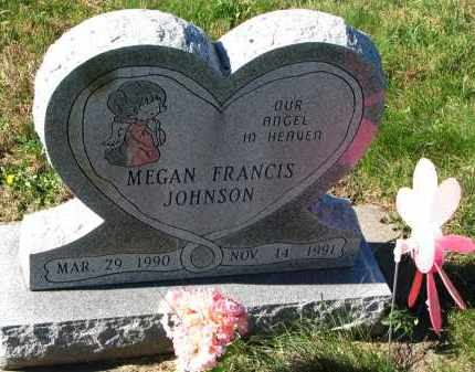JOHNSON, MEGAN FRANCIS - Yankton County, South Dakota | MEGAN FRANCIS JOHNSON - South Dakota Gravestone Photos