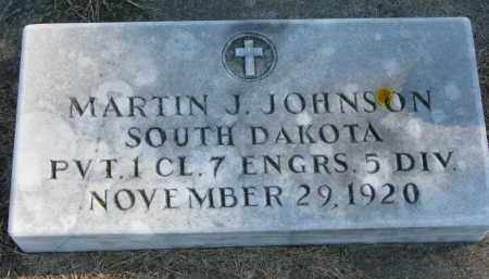 JOHNSON, MARTIN J. (MILITARY) - Yankton County, South Dakota | MARTIN J. (MILITARY) JOHNSON - South Dakota Gravestone Photos