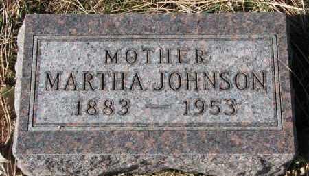 JOHNSON, MARTHA - Yankton County, South Dakota | MARTHA JOHNSON - South Dakota Gravestone Photos