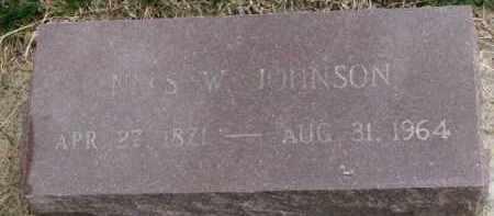 JOHNSON, NELS W. - Yankton County, South Dakota   NELS W. JOHNSON - South Dakota Gravestone Photos