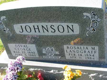 JOHNSON, OSVAL GEORGE - Yankton County, South Dakota | OSVAL GEORGE JOHNSON - South Dakota Gravestone Photos