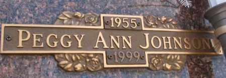 JOHNSON, PEGGY ANN - Yankton County, South Dakota | PEGGY ANN JOHNSON - South Dakota Gravestone Photos