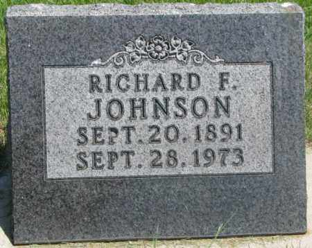 JOHNSON, RICHARD F. - Yankton County, South Dakota | RICHARD F. JOHNSON - South Dakota Gravestone Photos