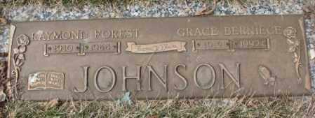 JOHNSON, RAYMOND FOREST - Yankton County, South Dakota | RAYMOND FOREST JOHNSON - South Dakota Gravestone Photos
