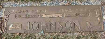 JOHNSON, RAYMOND FOREST - Yankton County, South Dakota | RAYMOND FOREST JOHNSON - South Dakota Gravestone Photos