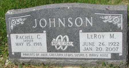 JOHNSON, RACHEL C. - Yankton County, South Dakota | RACHEL C. JOHNSON - South Dakota Gravestone Photos
