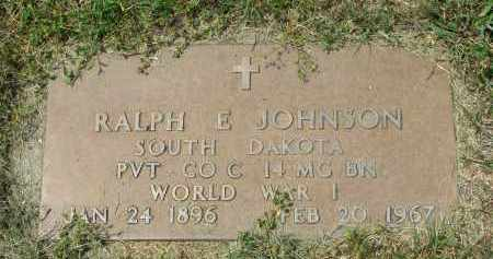 JOHNSON, RALPH E. (WW I) - Yankton County, South Dakota | RALPH E. (WW I) JOHNSON - South Dakota Gravestone Photos