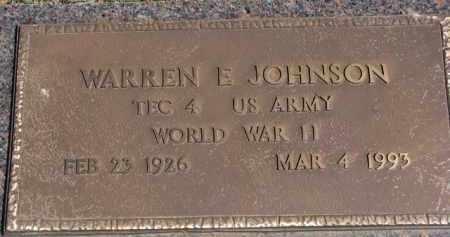 JOHNSON, WARREN E. - Yankton County, South Dakota   WARREN E. JOHNSON - South Dakota Gravestone Photos