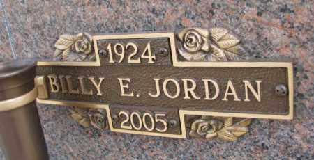 JORDAN, BILLY E. - Yankton County, South Dakota | BILLY E. JORDAN - South Dakota Gravestone Photos