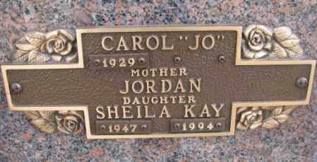 "JORDAN, CAROL ""JO"" - Yankton County, South Dakota   CAROL ""JO"" JORDAN - South Dakota Gravestone Photos"