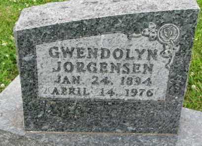 JORGENSEN, GWENDOLYN - Yankton County, South Dakota   GWENDOLYN JORGENSEN - South Dakota Gravestone Photos