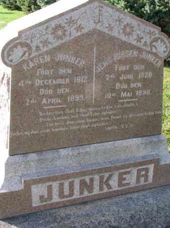 JUNKER, JENS - Yankton County, South Dakota   JENS JUNKER - South Dakota Gravestone Photos
