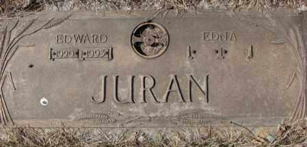JURAN, EDNA - Yankton County, South Dakota   EDNA JURAN - South Dakota Gravestone Photos