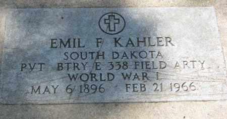 KAHLER, EMIL F. - Yankton County, South Dakota | EMIL F. KAHLER - South Dakota Gravestone Photos