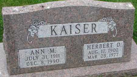 KAISER, HERBERT D. - Yankton County, South Dakota | HERBERT D. KAISER - South Dakota Gravestone Photos