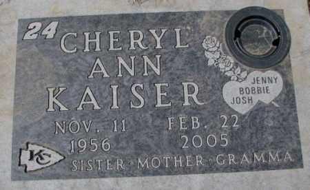 KAISER, CHERYL ANN - Yankton County, South Dakota   CHERYL ANN KAISER - South Dakota Gravestone Photos