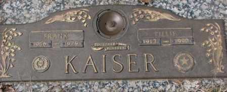 KAISER, TILLIE - Yankton County, South Dakota   TILLIE KAISER - South Dakota Gravestone Photos