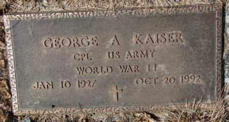 KAISER, GEORGE A. (WW II) - Yankton County, South Dakota | GEORGE A. (WW II) KAISER - South Dakota Gravestone Photos