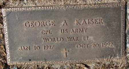 KAISER, GEORGE A. (WW II) - Yankton County, South Dakota | GEORGE A. (WW II) KAISER - South Dakota Gravestone Photos