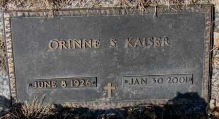 KAISER, ORINNE S. - Yankton County, South Dakota | ORINNE S. KAISER - South Dakota Gravestone Photos