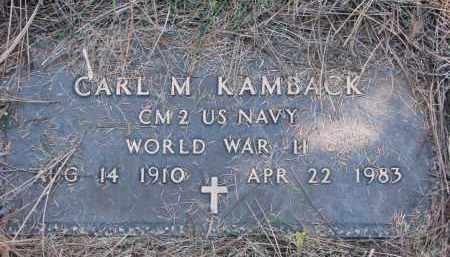 KAMBACK, CARL M. (WW II) - Yankton County, South Dakota | CARL M. (WW II) KAMBACK - South Dakota Gravestone Photos