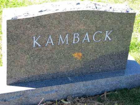 KAMBACK, FAMILY STONE - Yankton County, South Dakota   FAMILY STONE KAMBACK - South Dakota Gravestone Photos