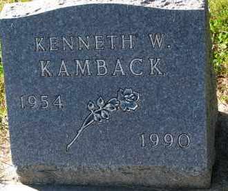 KAMBACK, KENNETH W. - Yankton County, South Dakota | KENNETH W. KAMBACK - South Dakota Gravestone Photos
