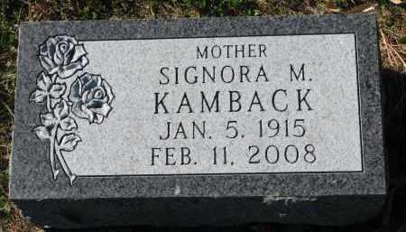 KAMBACK, SIGNORA M. - Yankton County, South Dakota | SIGNORA M. KAMBACK - South Dakota Gravestone Photos