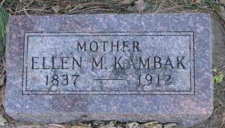 KAMBAK, ELLEN M. - Yankton County, South Dakota | ELLEN M. KAMBAK - South Dakota Gravestone Photos