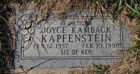KAMBACK KAPFENSTEIN, JOYCE - Yankton County, South Dakota | JOYCE KAMBACK KAPFENSTEIN - South Dakota Gravestone Photos