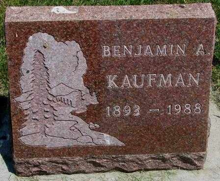 KAUFMAN, BENJAMIN A. - Yankton County, South Dakota | BENJAMIN A. KAUFMAN - South Dakota Gravestone Photos