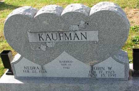 KAUFMAN, NEDRA E. - Yankton County, South Dakota   NEDRA E. KAUFMAN - South Dakota Gravestone Photos